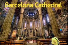 """""""Cathedral of Santa Eulalia – Catedral de Santa Eulalia, Barcelona (Spain), HDR"""" marcp_dmoz Visit Barcelona, Barcelona Hotels, Barcelona City, Barcelona Cathedral, Gothic Quarter Barcelona, Places In Spain, Church Pictures, Gothic Cathedral, World Cities"""