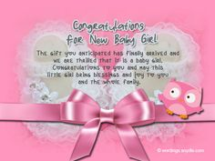 Congratulations grandma congratulations to the grandparents congratulations messages for new baby girlif you lost of words and can express your warmest congratulation wishes for a new born baby girl m4hsunfo