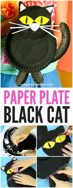 The cutest black cat around! And a fun paper craft project for kids this fall or Halloween!