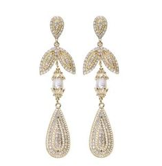 French Lace Earrings Gold Samatha Wills