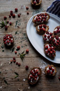 Wild Strawberry & Whipped Ricotta Tartlets