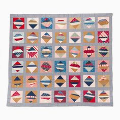 String Quilt Top – Square-in-a-square | Mingei