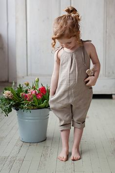 Linen Jumpsuits Harem Girls Jumpsuits Birthday Outfit Baby Girl Clothes Organic Baby Clothes Linen Girl Pants Linen Baby Overall Baby Outfits, Outfits Niños, Kids Outfits, Dresses For Kids, Little Girl Fashion, Toddler Fashion, Kids Fashion, Toddler Girl Style, Fashion Clothes