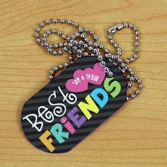 Personalized Best Friends Dog Tag Necklace