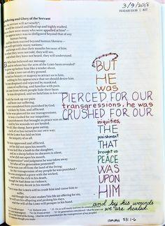 Bible Drawing, Bible Doodling, Bible Study Journal, Art Journaling, Isaiah Bible, Bibel Journal, Bible Prayers, Healing Scriptures, Bible Notes