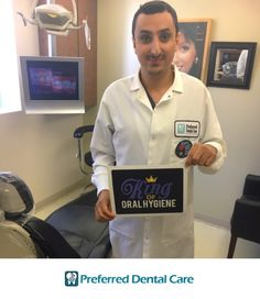 Meet Mohamed, one of our amazing hygienists! He has worked for Preferred Dental Care for over 8 years and unfortunately has moved to Texas! Yet, when he visits New York, with no hesitation, he asks Dr.Trivedi, our head dentist, to come back and work! We had the pleasure to have him this past Saturday & Tuesday in our office, and boy was our staff & patients happy to see him! We already miss him and look forward to the next time he comes back to New York!  #kingoforalhygiene…