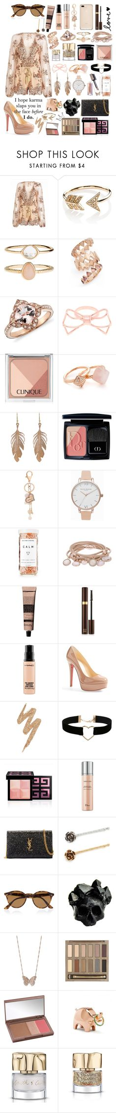 """Karma! #166"" by worldofflowers ❤ liked on Polyvore featuring EF Collection, Accessorize, Tory Burch, Ted Baker, Clinique, Michael Kors, Annette Ferdinandsen, Christian Dior, Olivia Burton and Herbivore"