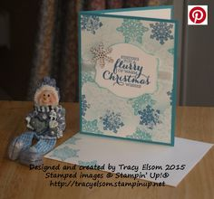 Christmas card created using the Flurry of Wishes Stamp Set from Stampin' Up!  http://tracyelsom.stampinup.net