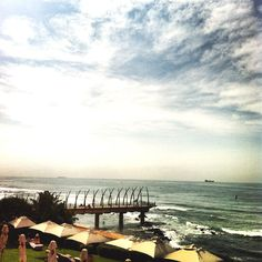 The view from the Beverley Hills Hotel, Umhlanga, Durban