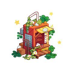Aesthetic Drawing, Aesthetic Art, Aesthetic Anime, Arte Do Kawaii, Kawaii Art, Japon Illustration, Cute Illustration, Japan Design, Cute Food Art
