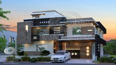 86 House at islamabad Building Elevation, House Elevation, Duplex House Plans, Modern House Plans, House Front Design, Modern House Design, Facade Design, Exterior Design, Front Elevation Designs