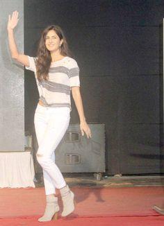 Katrina Kaif at a college festival in Mumbai promoting #Phantom. #Bollywood #Fashion #Style #Beauty #Hot
