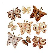 ConsumerCrafts Product Petaloo™ Premier Craft Butterflies in Shabby Beige Mix