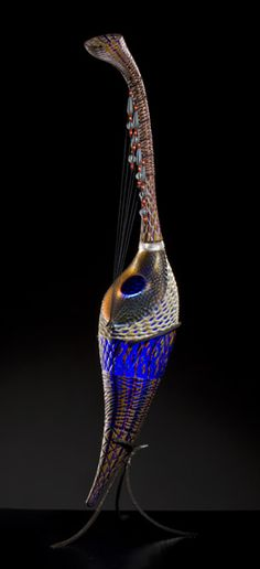I believe this is a cross between a sculpture and a musical instrument.... Davide Salvadore amazing glasswork