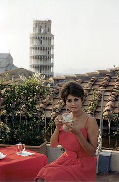 Sophia Loren at Pisa, Italy.
