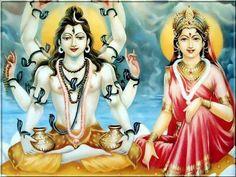 Ancient Hindu art of Lord Shiva-Parvati