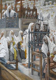 Jesus Unrolls the Scroll in the Synagogue - James Tissot - WikiPaintings.org