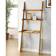 Oak 3-tier Leaning Laptop Shelf   Overstock™ Shopping - Great Deals on Media/Bookshelves