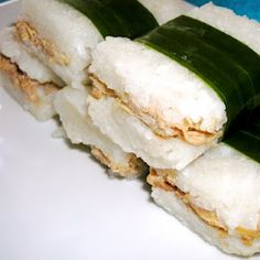 Lemper Ayam (Indonesian Rice snack with Chicken Filling)