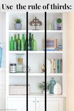 Wow, these bookshelves are GORGEOUS! This post walks through how to decorate bookshelves from start to finish and has plenty of bookshelf decorating ideas if Styling Bookshelves, Bookshelves In Living Room, Decorating Bookshelves, Bookshelf Design, Bookshelves Built In, How To Decorate Bookshelves, Book Shelf Decorating Ideas, Ideas For Bookshelves, Decor Ideas