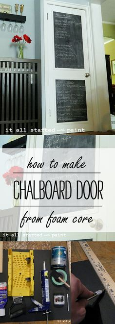 chalkboard door: from builder grade to a+ - It All Started With Paint