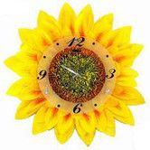 """Found it at Wayfair - 17.34"""" Sunflower Wall Clock"""