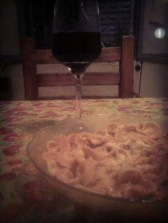 Cena a solas.