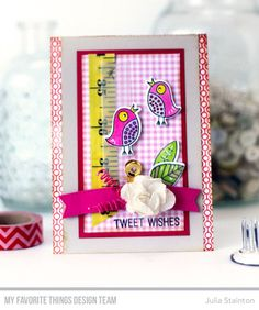 Tweet Wishes Stamp Set and Die-namics, Lined Up Dots Background, Blueprints 20 Die-namics, Blueprints 28 Die-namics - Julia Stainton #mftstamps