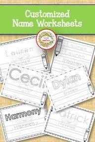 Learning to write your name is more fun with a customized worksheet! Check out these custom worksheets along with worksheets for ABCs and Numbers 1 to Learning To Write, Writing Practice, Kids Learning, Learning Resources, Teaching Ideas, Name Tracing Worksheets, Tracing Letters, Teacher Organization, Teacher Tools