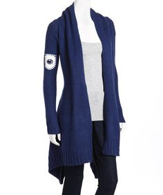 Take a look at this Navy Penn State Open Cardigan by Celebrate Your Colors: Apparel on #zulily today!