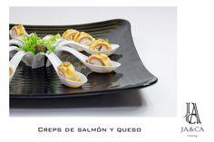 Creps de salmón y queso #boda #catering #jaca #andalucía #gourmet