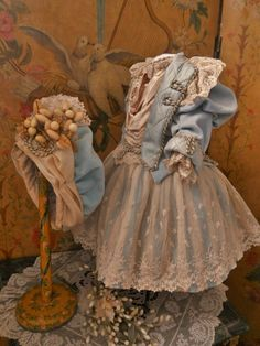 ~~~Pretty Silk and Velvet French BeBe Costume with Bonnet ~~~ from whendreamscometrue on Ruby Lane
