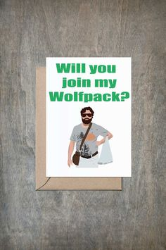 Will You Join My Wolfpack Card. Will You Be My Groomsmen Card. Funny Groomsmen…