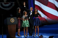 Our First Family during last night's Victory Speech