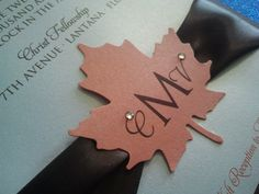 Love In Fall Wedding Invitation Set by theinspirednote on Etsy, $5.50