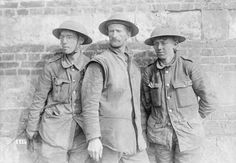 Three British POWs taken during the German spring offensive in the Battle of the Lys/1918
