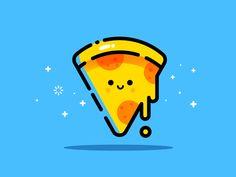 a cute representation of pizza