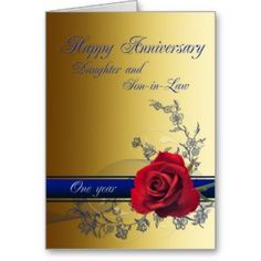 "1st Anniversary card for Daughter & son-in-law (<em data-recalc-dims=""1"">$3.30</em>)"