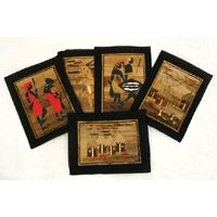 Africa Imports - African Banana Leaf Art Paintings