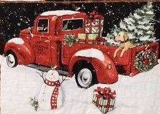 Vintage Snowman & Red Christmas Truck Greeting Postcard - New Year's Eve happy new year designs party celebration Saint Sylvester's Day Christmas Red Truck, Merry Christmas Happy Holidays, Christmas Scenes, Christmas Cross, Christmas Pictures, Vintage Christmas, Christmas Holidays, Christmas Decorations, Xmas