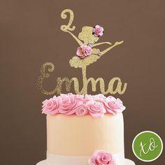 Ballerina Party, Ballerina Birthday Parties, 3rd Birthday, Ballet Cakes, Ballerina Cakes, Ballerina Centerpiece, Birthday Cake Toppers, Barbie, Birthday Decorations