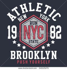 Sport college athletic typography, t-shirt graphics, vectors