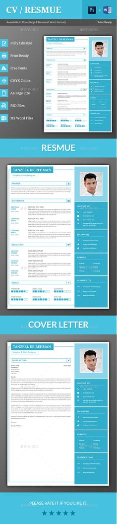Free A4 CV \ Covering Letter Templates Print Ready Designs - awesome resumes templates