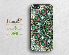 green mandala pattern iphone 5s case,iphone 5c case,  iphone 4 cases,soft rubber or hard iphone 5 cases, iphone 4 protector,iphone 4s cases on Etsy, $8.99