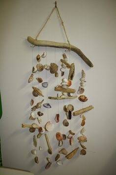 Seashell Projects | Hanging seashells chime together with every gentle breeze, making a ...