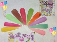 Colección de acrílicos vilari nails sweet candy