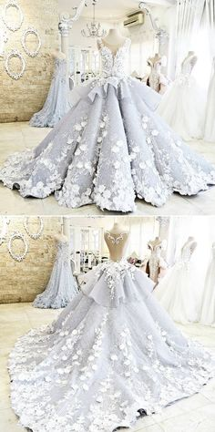Pretty Light Blue Quinceanera Dress Ball Gown Flowers Evening Dress Long Backless Wedding Prom Gowns Formal Dress For Teens Brides – Wedding Dresses Plain – Wedding Dresses Plain New Wedding Dresses, Princess Wedding Dresses, Gown Wedding, Bridal Gowns, Wedding Skirt, Hair Wedding, Tulle Wedding, Lace Weddings, Wedding Themes