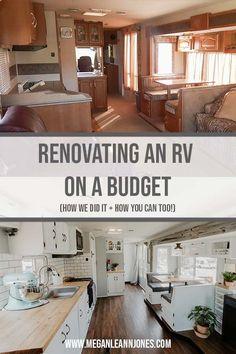 Camper Diy, Camper Ideas, Rv Campers, Camper Renovation, Camper Remodeling, Rv Interior Remodeling, Travel Trailer Remodel, Travel Trailers, Rv Redo