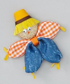 Look at this Picture Perfect Hair Bows Orange Scarecrow Clip on #zulily today!