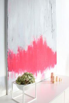 abstract painting, pink and gray art Diy Art, Diy Wall Art, Wall Decor, Abstract Flowers, Abstract Art, Diy Painting, Painting Inspiration, Home Art, Modern Art